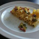 Tortiglioni con Zucchine, Pancetta e Ph