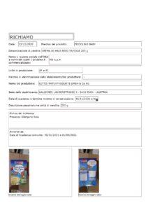 Allerta Alimentare | MD, Crema Piccolino Baby, Ritirata per Allergene 1