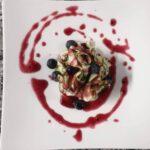 Carpaccio di Zucchine, Mirtilli e Emmentaler