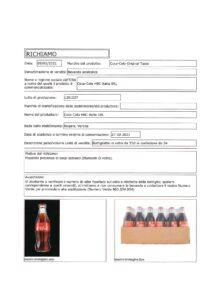 Allerta Alimentare | Vetro nella Coca Cola 1