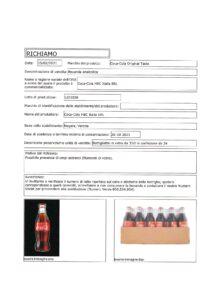 Allerta Alimentare | Vetro nella Coca Cola 4