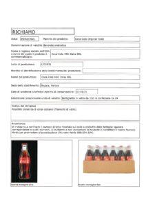 Allerta Alimentare | Vetro nella Coca Cola 6