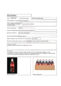 Allerta Alimentare | Vetro nella Coca Cola 10