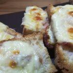 Crostini con Pancetta e Asiago