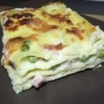 Lasagna con Prosciutto Cotto, Piselli e Mozzarella 5