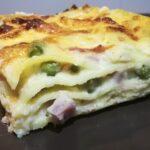 Lasagna con Prosciutto Cotto, Piselli e Mozzarella 4