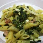 Mezze Penne con Spinaci, Cotto e Ricotta Salata 6