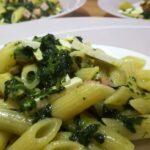 Mezze Penne con Spinaci, Cotto e Ricotta Salata 4