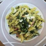 Mezze Penne con Spinaci, Cotto e Ricotta Salata 5