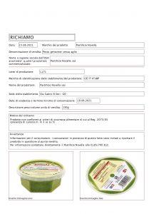 Allerta Alimentare | Rischio Microbiologico per il Pesto 1
