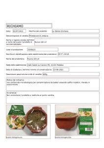 Allerta Alimentare   Contaminazione da Batteri Anaerobi per il Minestrone 1